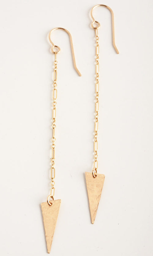 Edge Gold Earrings
