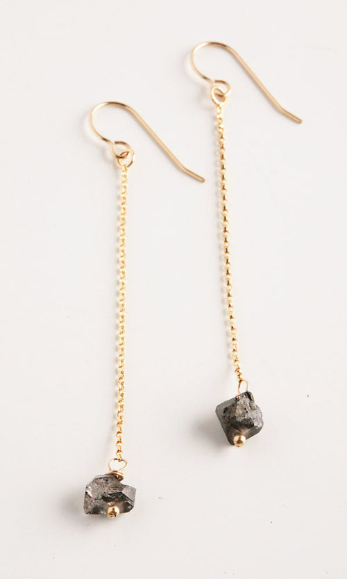 Mineral Gold Earrings