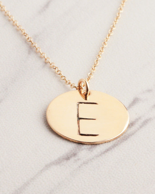 Big Initial Gold Necklace