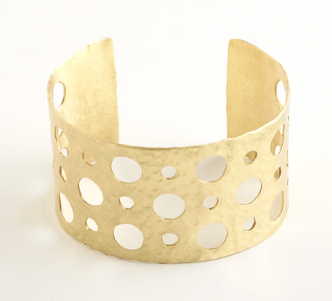 Open Dots Gold Cuff