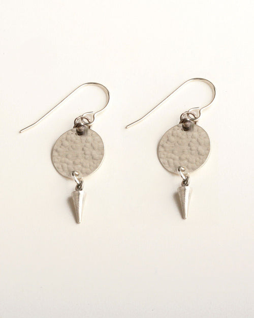 Tick-Tock Silver Earrings