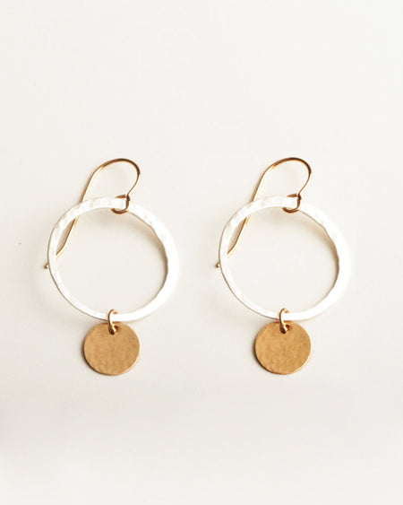 Moon Phase Silver Earrings