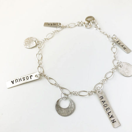 Initial On a Thread Silver Bracelet
