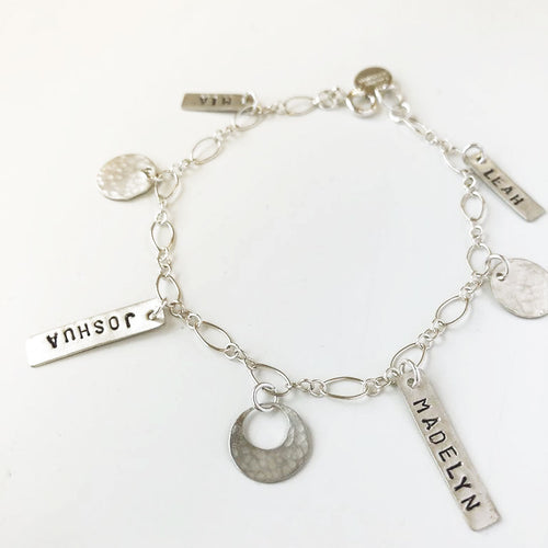 Mom Bar Charms Bracelet