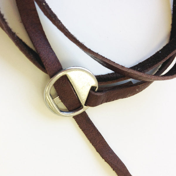 Leather Wrap Around Brown Bracelet