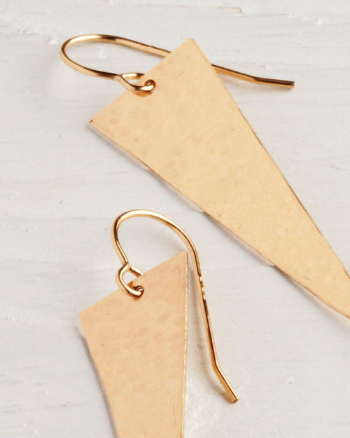 14k Gold Fill Hand Cut Earrings