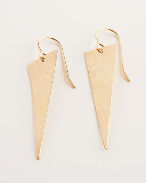 14k-Gold-Fill Hand-Cut Earrings