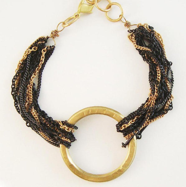 Gold Circle Crown Bracelet