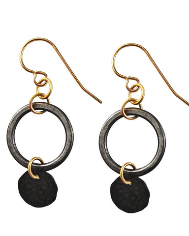 Hole In One Black/Black Earrings