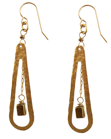Rock Around Gold Earrings
