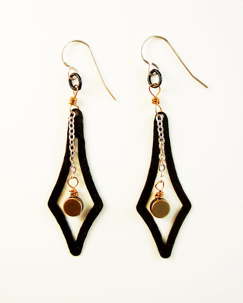 Vector Black Earrings
