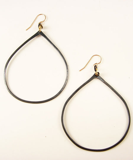 One Line gold Earrings