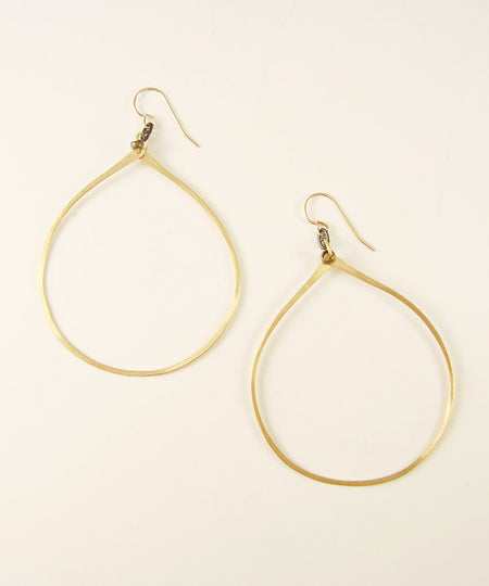 Curved Gold Earrings
