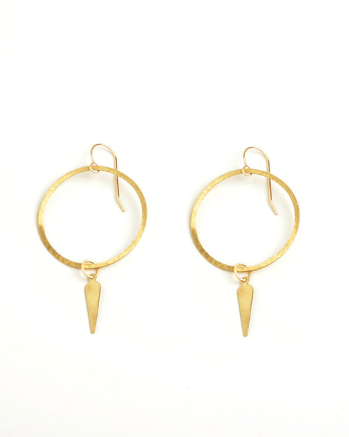 Pendulum Gold Earrings