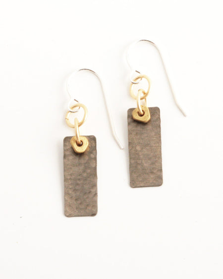 Jungle Black Earrings