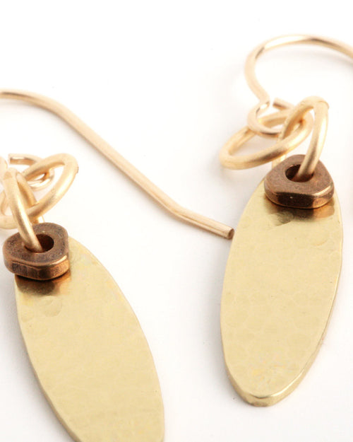 Olive Gold Earrings