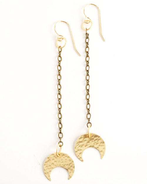 Peacock Gold Earrings