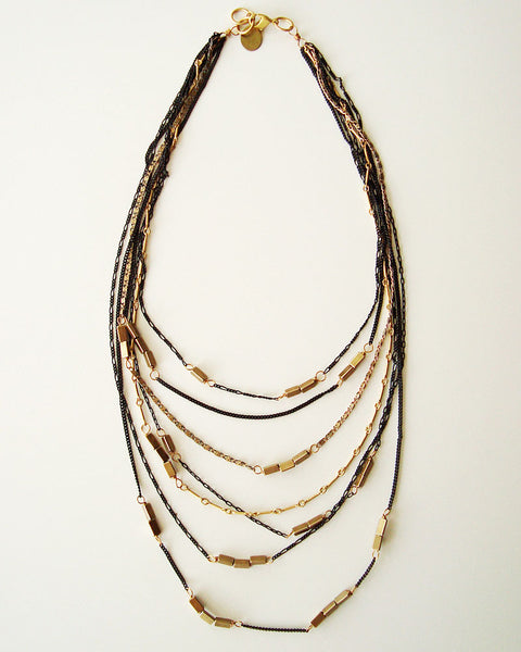 Abstract Mixed Necklace