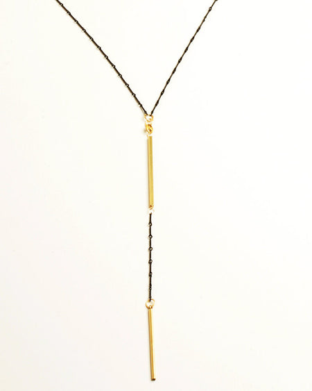 Ticker Black Necklace