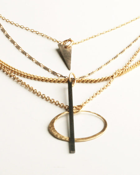 Sybil Black Necklace