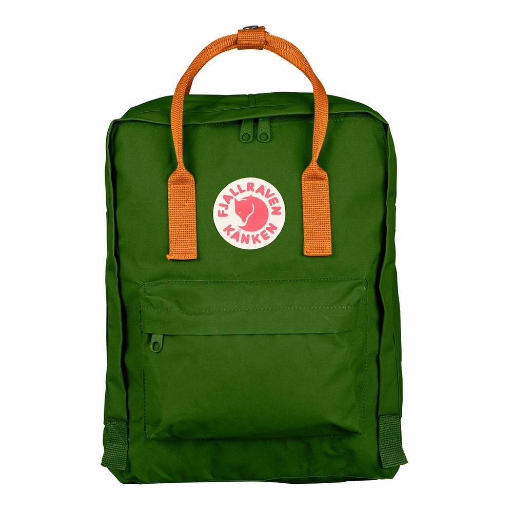 Kanken Classic Leaf Green - Burnt Orange