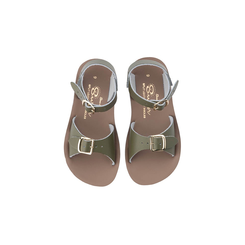 Salt Water Sun-San Surfer Sandals Olive