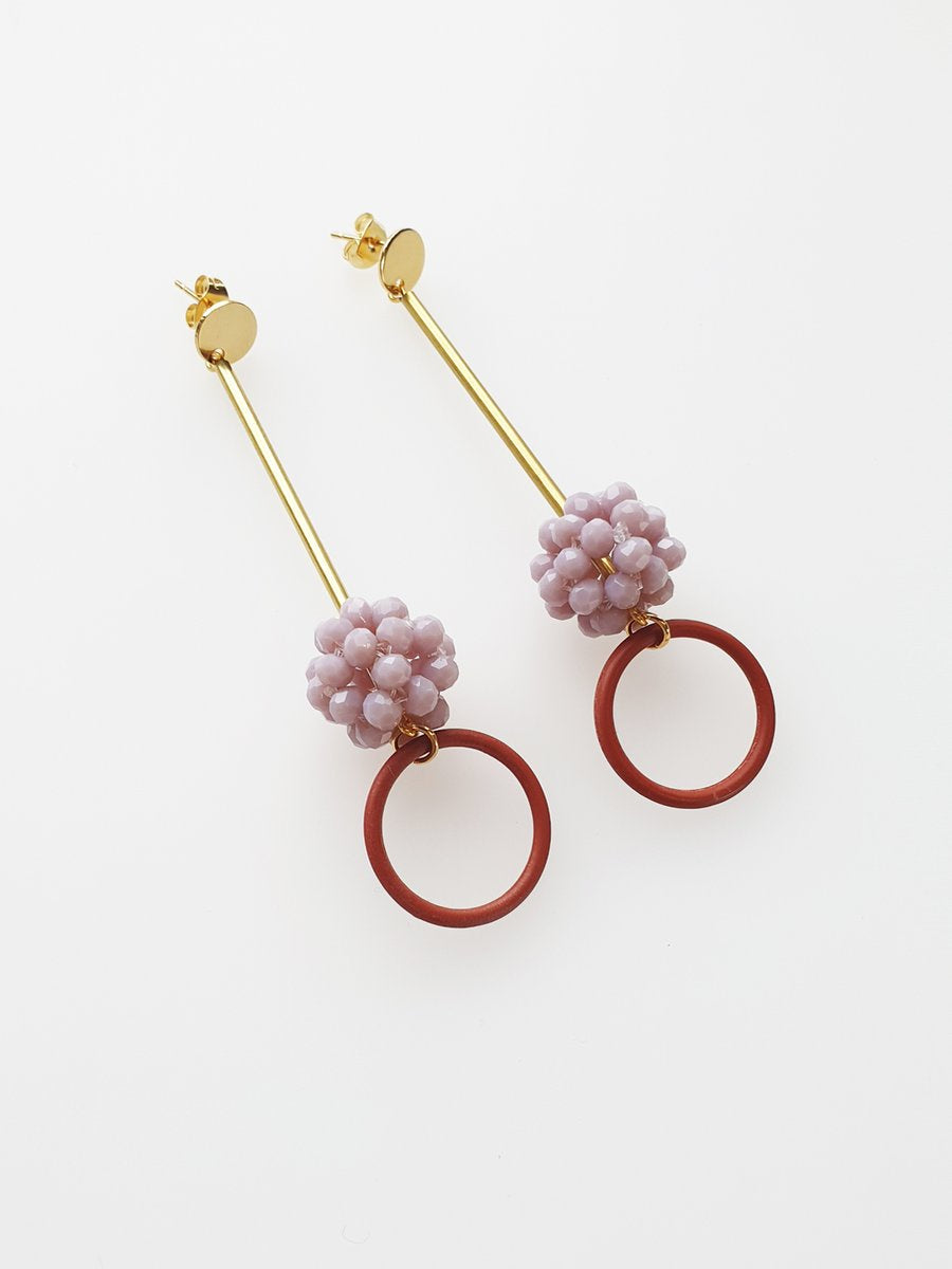 Poem Earrings - Mauve