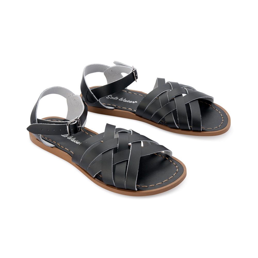 Salt Water Retro Sandal Black