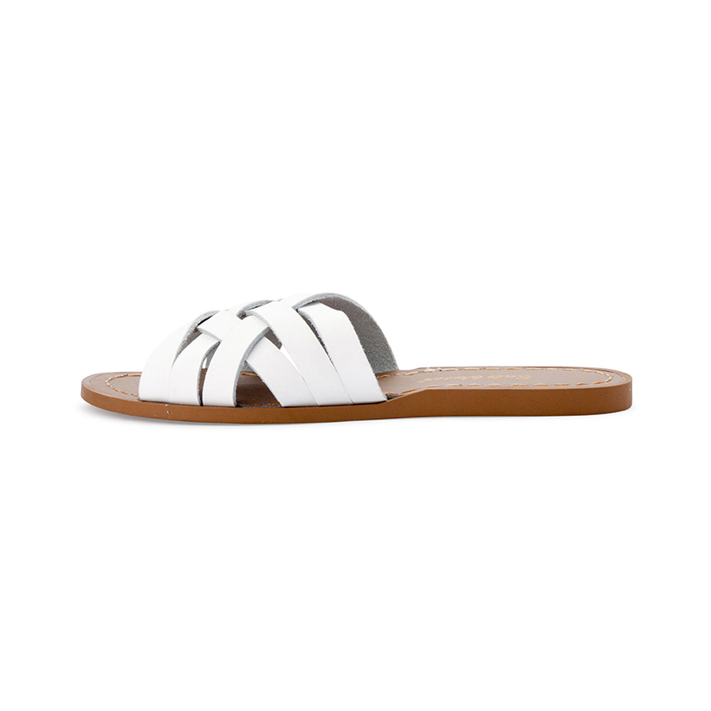 Salt Water Retro Slide White