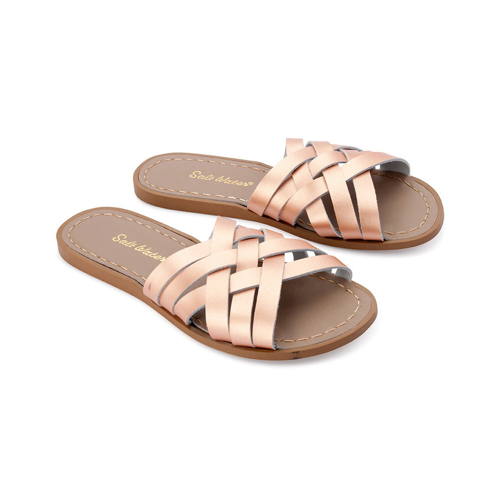 Salt Water Retro Slide Rose Gold