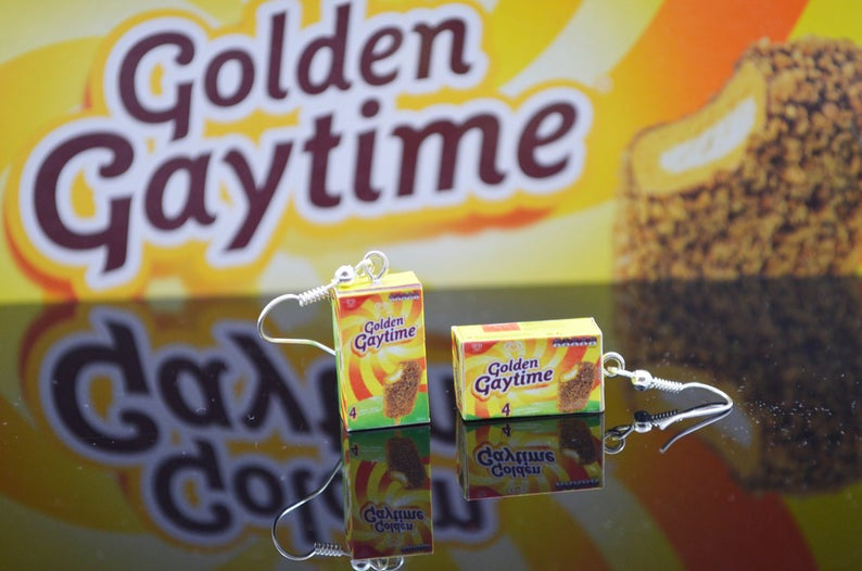Golden Gaytime Earrings