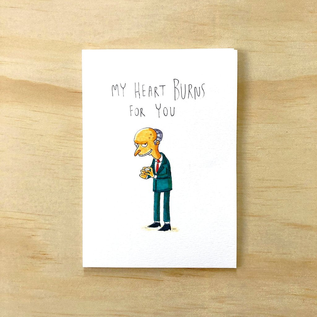 My Heart Burns for You Card