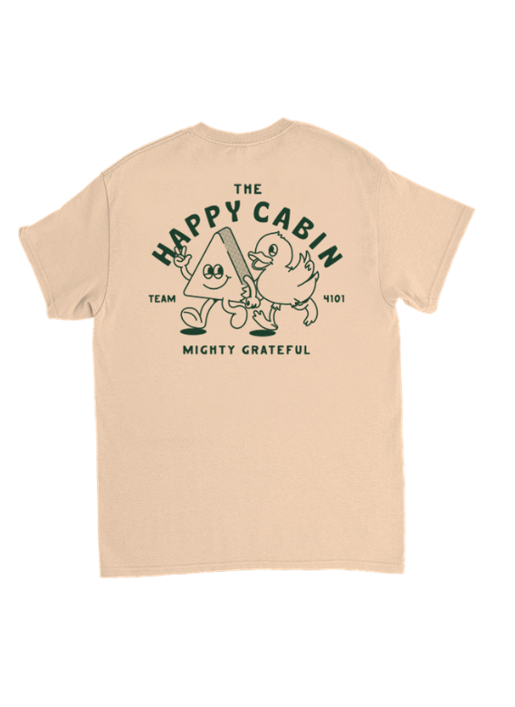 'Mighty Grateful' Happy Cabin Tee - natural