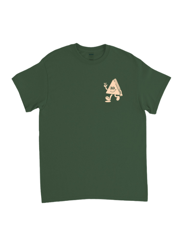 'Mighty Grateful' Happy Cabin Tee - forest green