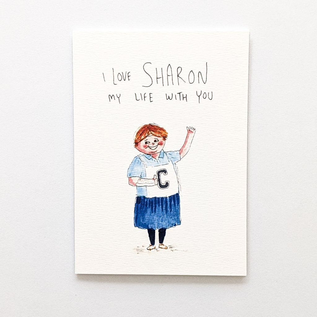 I love Sharon my life with you Card