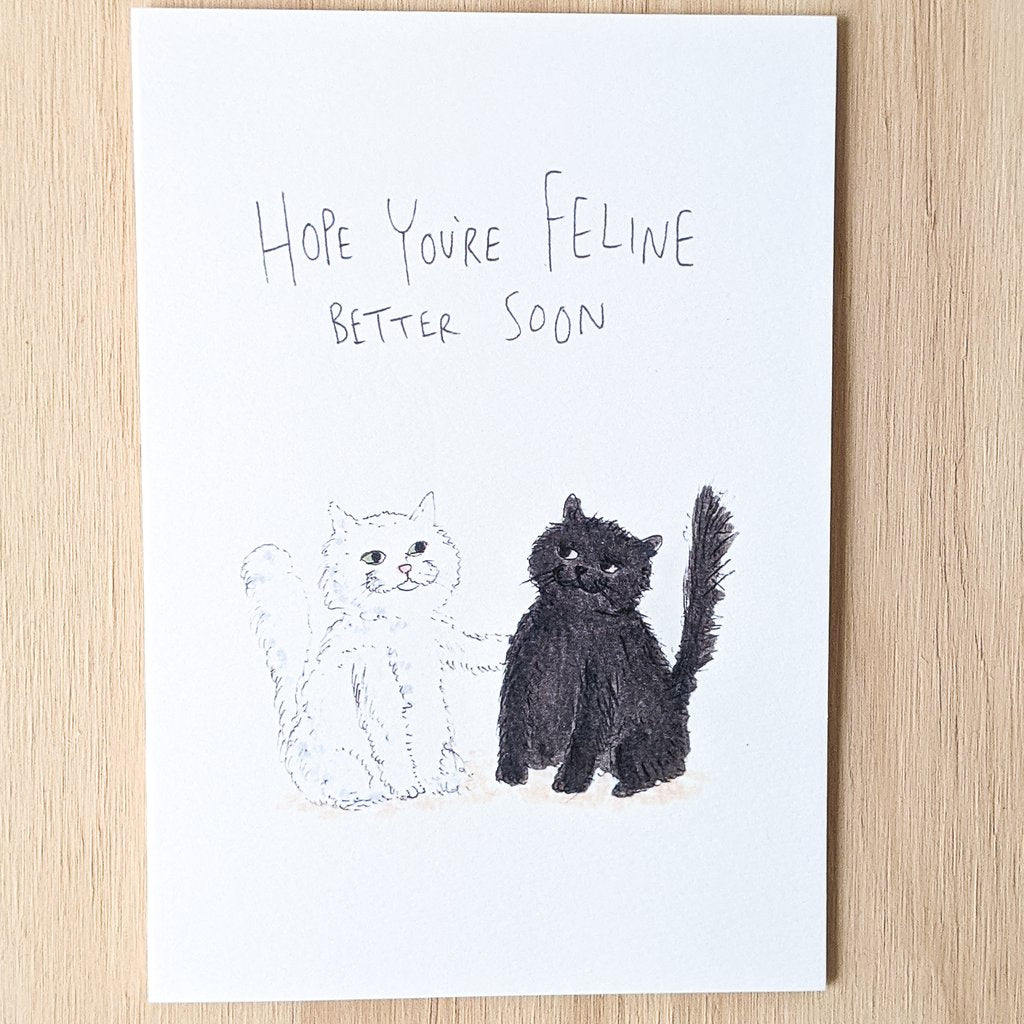 Hope you're Feline Better Soon Card