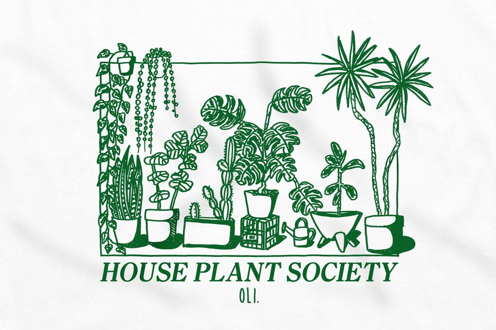 House Plant Society Tee - white