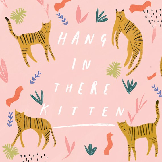 Hang in there Kitten card