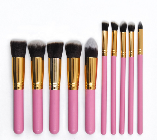 Pink Candy 10 Pcs Makeup Brush Set