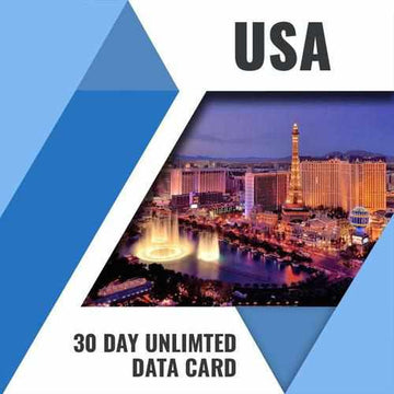 USA PREPAID DATA ONLY SIM CARD | 30 DAY | UNLIMITED DATA