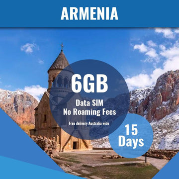 Armenia Prepaid SIM Card | 15 Day | 6GB
