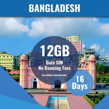 Bangladesh Prepaid SIM Card | 16 Day | 12GB