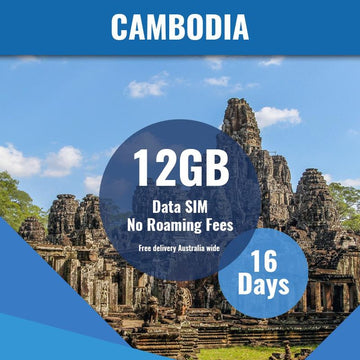 Cambodia Prepaid SIM Card | 16 Day | 12GB