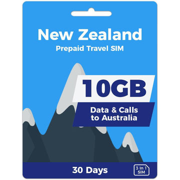 New Zealand Prepaid SIM Card | 30 Day | 10GB