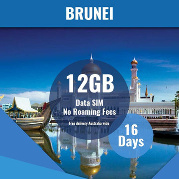 Brunei Prepaid SIM Card | 16 Day | 12GB