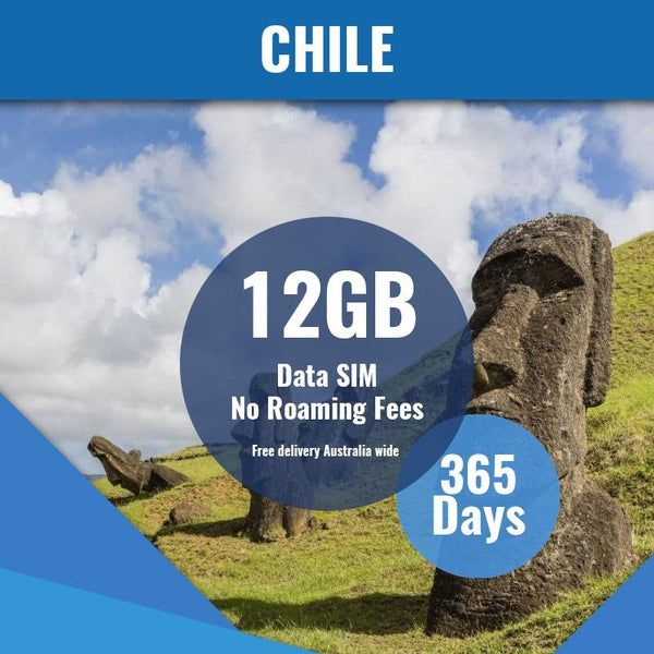 Chile Prepaid Data Only SIM Card | 365 Day | 12GB