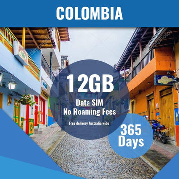 Colombia Prepaid Data Only SIM Card | 365 Day | 12GB