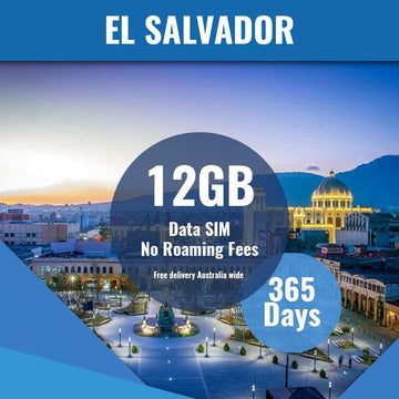 El Salvador Prepaid Data Only SIM Card | 365 Day | 12GB