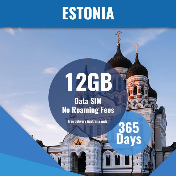 Estonia Prepaid Data Only SIM Card | 365 Day | 12GB