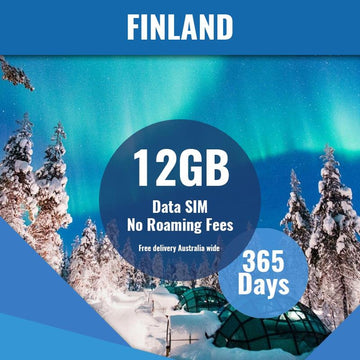 Finland Prepaid Data Only SIM Card | 365 Day | 12GB
